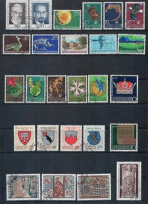 LIECHTENSTEIN -  Mixed Lot of 26 Stamps Most Fine Used or CTO