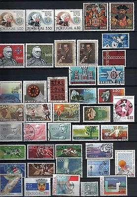 Portugal - Mixed Lot of 42 Stamps Good to Fine Used LH