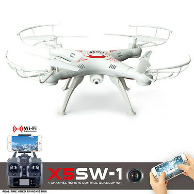 New PFV Camera Quadcopter Drone RC WIFI Headless 2.4Ghz White One Key Return