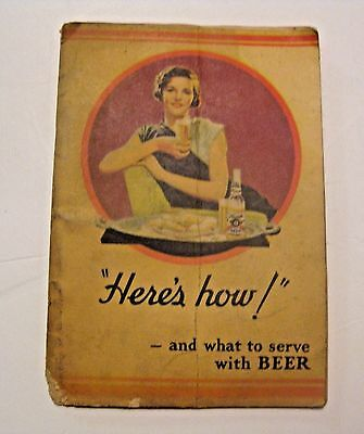 Rare Original Vintage 1934 Hamm's Beer Advertising What To Serve With Beer Book