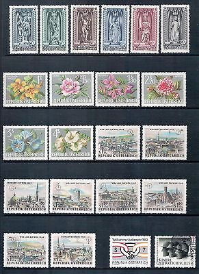 Austria Mixed Lot of 22 Stamps most MLH