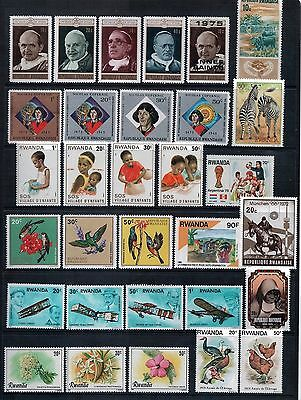 RWANDA -  Mixed Lot of 31 Stamps most MNH or MLH