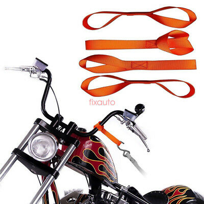 12inch 4pcs Soft Nylon ATV Motorcycle Tie Down Straps Towing Rope fT25
