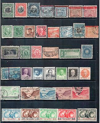 Panama and Canal Zone -  Mixed Lot of 38 Stamps mainly Good Used, some MH