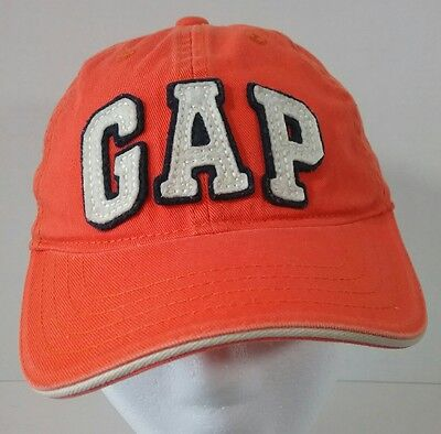 GAP Baseball Hat Cap Orange Kids Boys Girls Flexseam Cotton Size Medium/Large