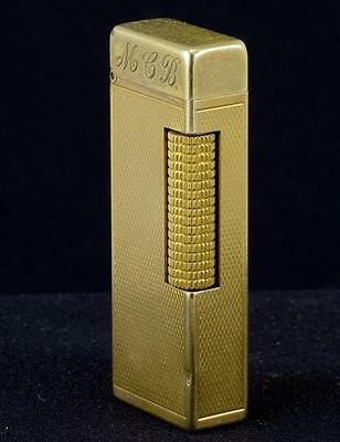 DUNHILL ROLLAGAS  BARLEY SMOOTH  TOP  LIGHTER - GOLD PLATED - 1970's R5307A