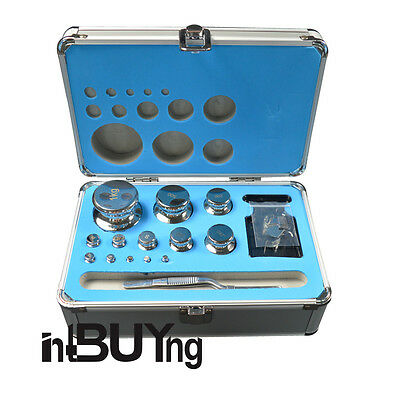 F1 Grade 1mg-1000g Precision Stainless Steel Calibration Weight Kit 25pcs/set