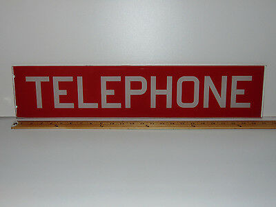 Glass Telephone Booth Sign Panel