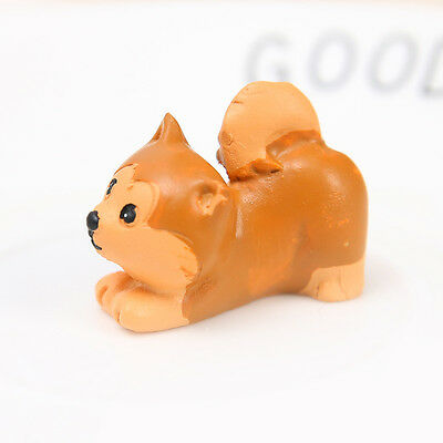 Shiba Inu Mini Resin Hand Painted Dog Figurine Statue Toy Gift Home Garden Decor
