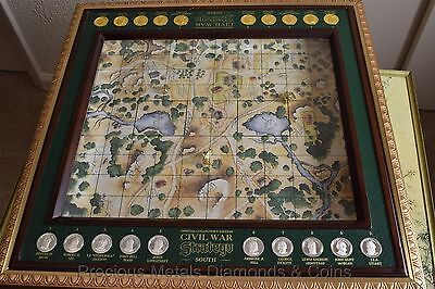 Extremely RARE 1 of only 30 Franklin Mint Civil War Stratego PROTOTYPE See Desc.