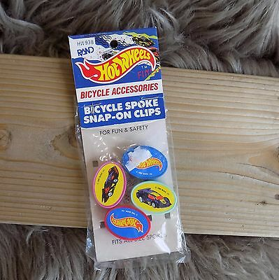 Vtg mattel 90s Hot Wheels Bicycle Spoke snap-on clip Bead Decor old/new stock