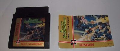 Alien Syndrome By Tengen For Nintendo Nes Cartridge & Manual Tested