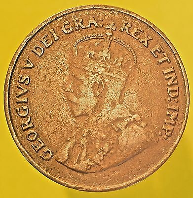 1924 Canadian One Cent Penny! King George V!  ***SEE MY STORE!***