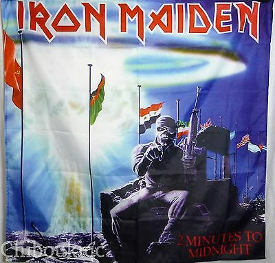 IRON MAIDEN 2 Minutes to Midnight HUGE 4X4 BANNER poster tapestry cd album