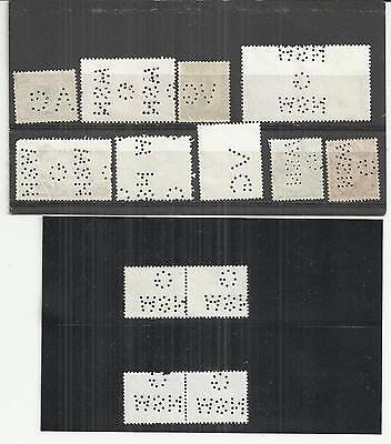 Australia A Selection of 13 Perf's Both Decimal & Pre Decinal Used