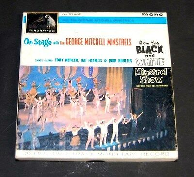 On Stage with the George Mitchell Minstrels black & White Twin Track tape H3