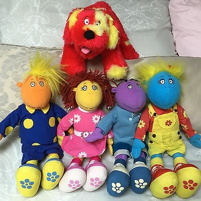 Tweenies ~ Plush Toys Bundle ~ Set of Four Plus Dog
