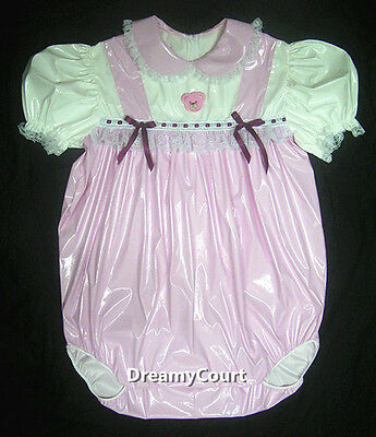 Adult Sissy Baby Girl Bubble Baby Pink Pvc Romper Night Sleeper 01