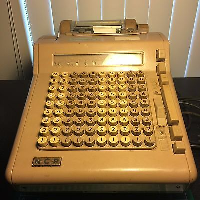NCR Vintage Electric Adding Machine