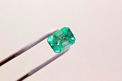 9 X 7 mm 2.87 TCW Emerald Cut Natural Colombian Emerald Loose Gemstone