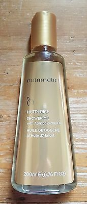 Nutrimetics ' NUTRI-RICH Shower OIL With Apricot Kernel Oil ' Brand New RRP $38.