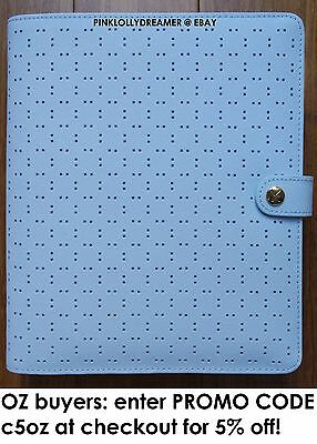 Kikki K ICE BLUE large A5 perforated personal planner diary agenda NEW in BOX