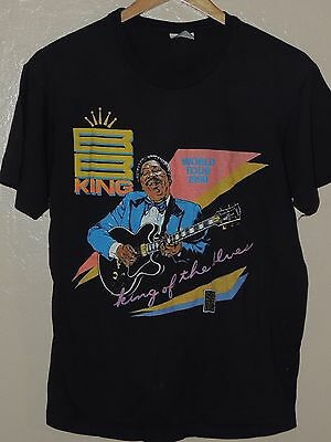 BB King World Tour 1990 King of The Blues Vintage Shirt Size Large