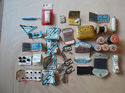 Vintage Sewing Paraphanalia, Sylko & Barbours thread and other pieces