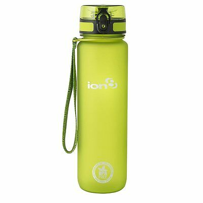 Ion8 Unisex Leak Proof Bpa Free Cycling Water Bottle, Frosted Green 1000ml 32OZ