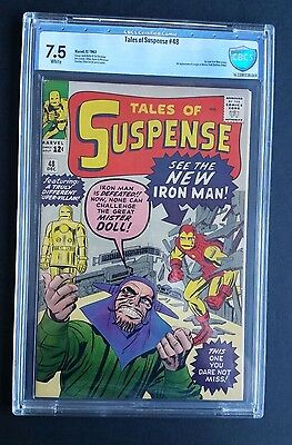 Tales Of Suspense #48 • 1St Red & Gold Iron Man Armor •  Hi Grade Cbcs 7.5 (Vf-)