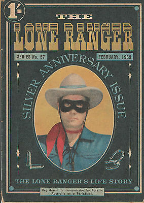 The Lone Ranger. Silver Anniversary Issue. Series 57. Feb 1959