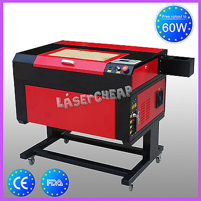 60W Co2 Tube USB Laser Cutter Engraver Cutting Engraving Machine w/Stand