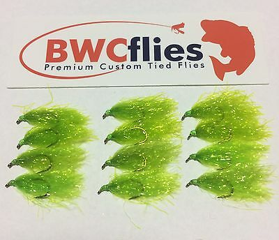 BWC Flies 12 x BRIGHT Weed fly for Blackfish and Luderick