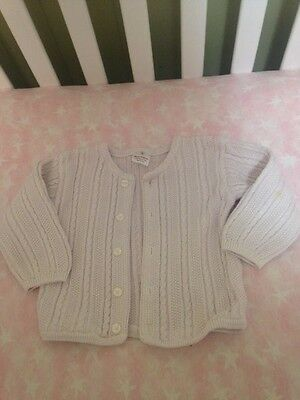 Hanna Andersson infant cable cardigan sweater size 80