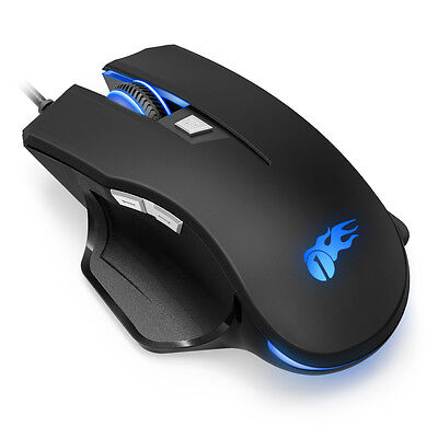 Optical Wired Programmable Gaming Mouse USB LED Light Wrist Healthy Healing