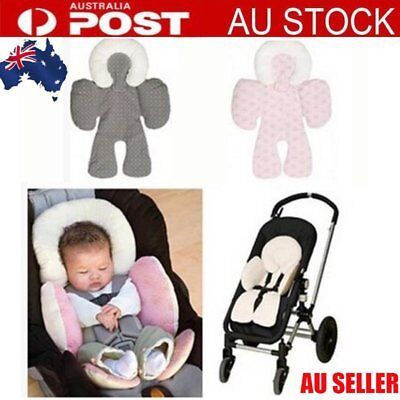 AU Newborn Baby Car Seat Stroller Cushion Pad Liner Mat Head Body Support Pillow