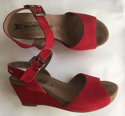 Chaussures sandales MEPHISTO neuves rouge 37