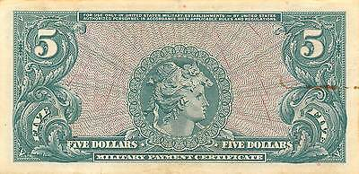USA / MPC  $5  ND. 1965  Series 641  Run 30  circulated Banknote