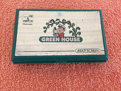 Nintendo Game And Watch Green House Widescreen Vintage Handheld Game