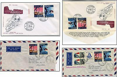 3 items CYCLING 1968 ITALY World Championships Rome 1968 Commemorative FD. Cover