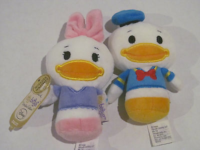 Hallmark Itty Bittys Donald Duck Daisy Disney Set 2 Pc Retired Plush  Bitty