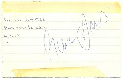 Steve Davis signed autograph album page 1983 English snooker player