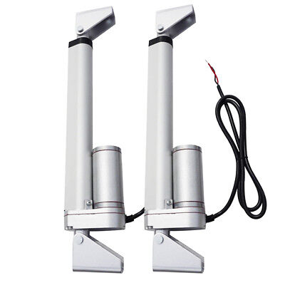 "2 Set 10"" 12V 1500N Linear Actuator + Brackets for Door Openning Heavy Duty AU"