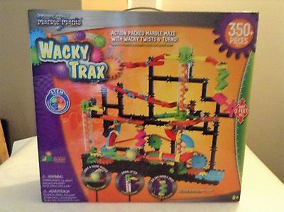 Techno Gears Marble Mania Wacky Trax Set + 350 Pieces,Excellent Condion COMPLETE