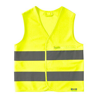 2 xChilds reflective vest safety cycling yellow children x small high visibility
