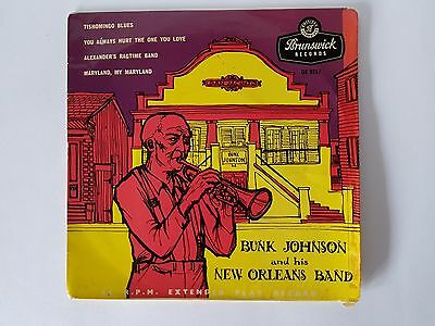 "Bunk Johnson And His New Orleans Band Tishomingo Blues 7"" Ep 1956"