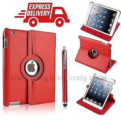 Luxury Leather 360 Rotating Stand Case Cover For APPLE iPad 2 3 4 (r10