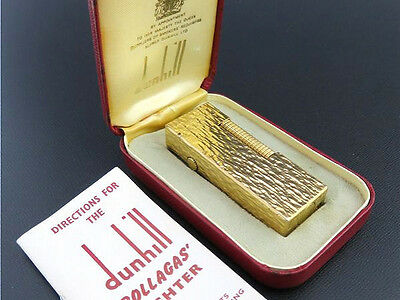 Dunhill Vintage Rollagas Lighter Gold Plated with Box & Guide [957-2]