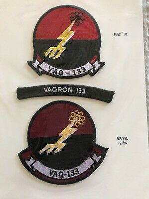 VAQ-133 Wizards 3 Patch Lot 1 Patch Pre- 1992 & One After 1996