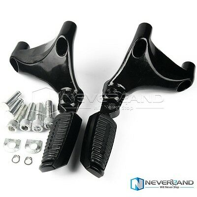 Passenger Pegs Mount Rear Foot Footpegs For Harley 1200 883 Iron Sportster 04-13